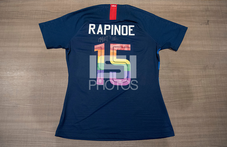Cleveland, OH - June 11, 2018: USWNT Pride Jersey Auction