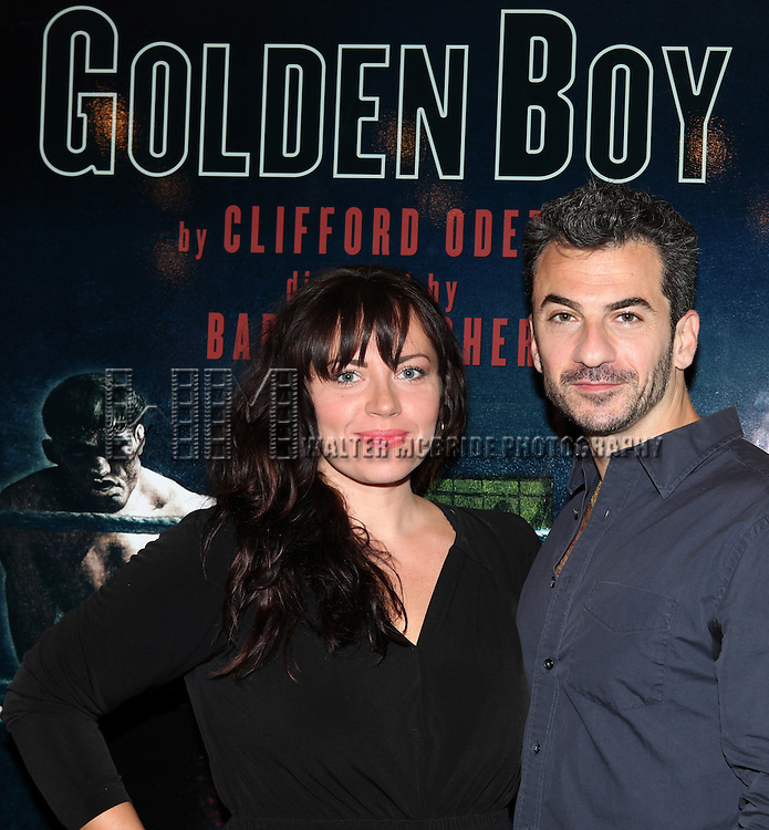 Dagamara Dominczyk and Michael Aronov attending the Meet & Greet for the Lincoln Center Theater's 75th Anniversary Production of 'Golden Boy' at their Rehearsal Studios on 10/25/2012 in New York.