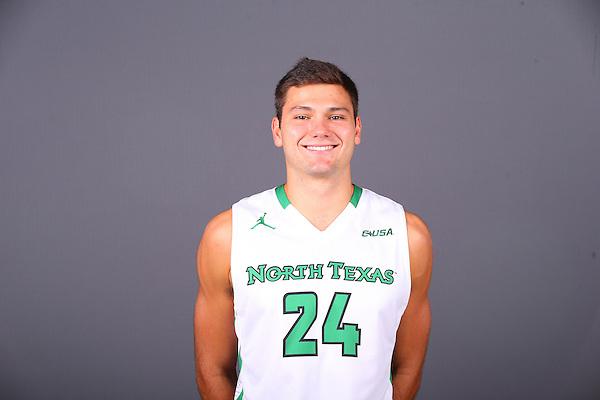 DENTON, TX - SEPTEMBER 14: North Texas Mean Green Men's Basketball head shots at Super Pit - North Texas Coliseum in Denton on September 14, 2016 in Denton, Texas. (Photo by Rick Yeatts)