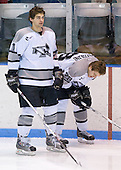 Joe Lavin (Providence 11), Nick Mazzolini (Providence 28) - The Boston College Eagles and Providence Friars played to a 2-2 tie on Saturday, March 1, 2008 at Schneider Arena in Providence, Rhode Island.