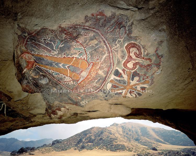 Chumash Cave Painting, San Emigdiano Canyon, Ventura County
