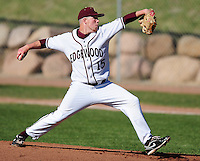 Edgewood senior Chris Ritter pitches against Evansville on Wednesday evening in the WIAA Division 2 baseball regional final in Madison