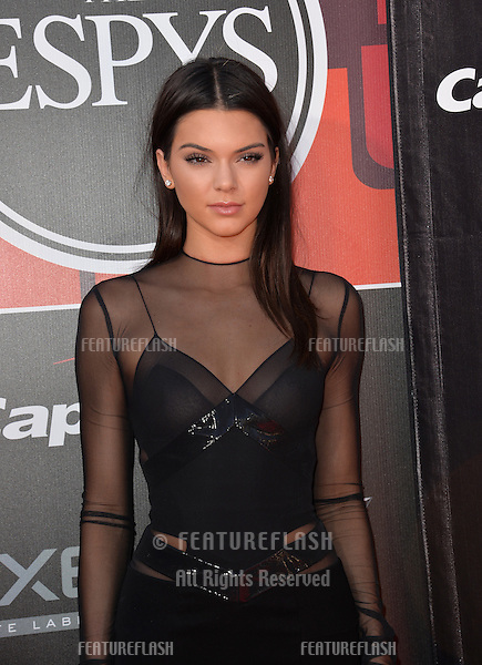 Kendall Jenner at the 2015 ESPY Awards at the Microsoft Theatre LA Live.<br /> July 15, 2015  Los Angeles, CA<br /> Picture: Paul Smith / Featureflash