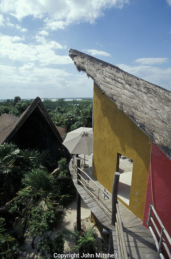 Visitor center and ecolodge in the Sian Ka'an Biosphere Reserve, Quintana Roo, Mexico