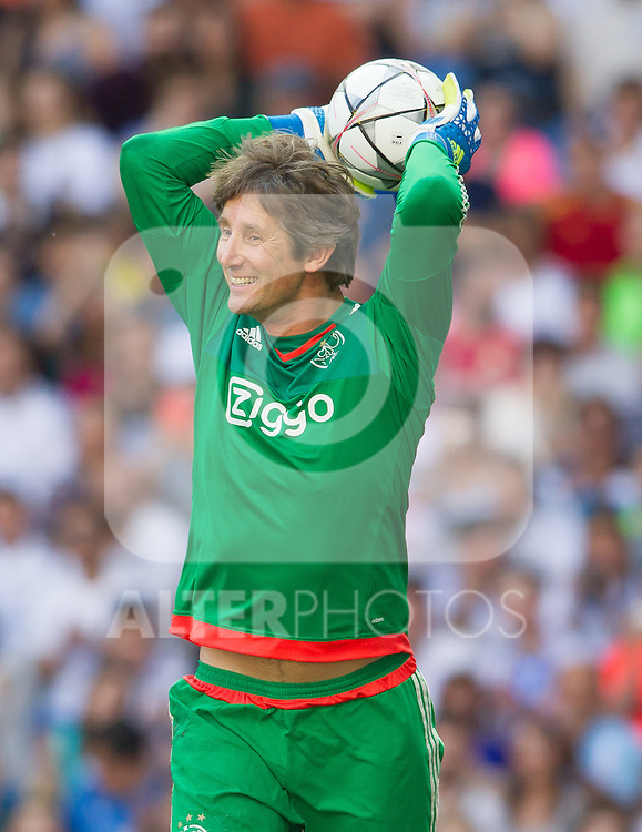 Edwin Van Der Sar during the Corazon Classic Match 2016 at Estadio Santiago Bernabeu between Real Madrid Legends and Ajax Legends. Jun 5,2016. (ALTERPHOTOS/Rodrigo Jimenez)