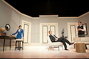 """Lauren Barone (Gabriella), Ben Nordstrom (Bernard) and Bryan T. Donovan (Robert) perform during the dress rehersal of """"Boeing Boeing"""" on Tuesday June 12th 2012 in Kennedy Theater (Progress Energy Center for the Performing Arts)."""
