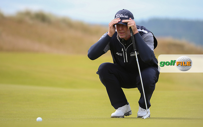 Steve Stricker (USA) during Round Three of the 2016 Aberdeen Asset Management Scottish Open, played at Castle Stuart Golf Club, Inverness, Scotland. 09/07/2016. Picture: David Lloyd | Golffile.<br /> <br /> All photos usage must carry mandatory copyright credit (&copy; Golffile | David Lloyd)