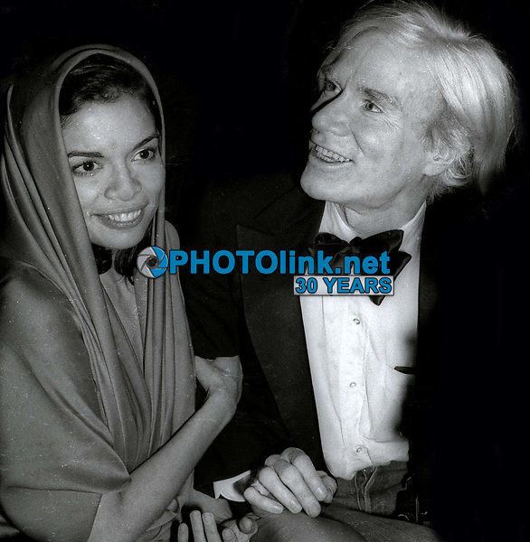 Bianca Jagger Liza Minnelli Andy Warhol at Studio 54 1978<br /> Photo By Adam Scull/PHOTOlink.net