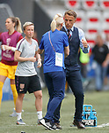 09.06.2019 England v Scotland Women: Phil Neville and Shelley Kerr