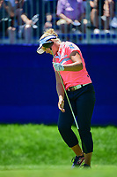 Brooke M. Henderson (CAN) reacts to her tee shot on 1 during Sunday's final round of the 2017 KPMG Women's PGA Championship, at Olympia Fields Country Club, Olympia Fields, Illinois. 7/2/2017.<br /> Picture: Golffile | Ken Murray<br /> <br /> <br /> All photo usage must carry mandatory copyright credit (&copy; Golffile | Ken Murray)