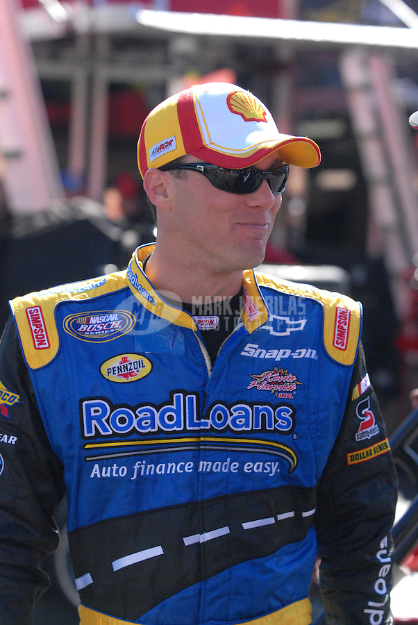 Feb 23, 2007; Fontana, CA, USA; Nascar Busch Series driver Kevin Harvick (33) during practice for the Stater Bros 300 at California Speedway. Mandatory Credit: Mark J. Rebilas
