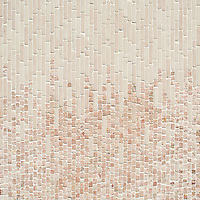Perseid, a hand-cut tumbled mosaic, shown in Desert Pink and Italian Rose, is part of the Tissé™ collection for New Ravenna.