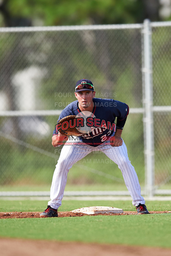 Minnesota Twins Zach Featherstone (23) during an Instructional League game against the Boston Red Sox on September 24, 2016 at CenturyLink Sports Complex in Fort Myers, Florida.  (Mike Janes/Four Seam Images)