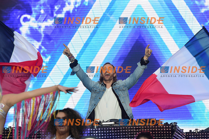 David Guetta <br /> Parigi 09-06-2016 Champ de Mars <br /> Concerto apertura Campionati di Calcio Francia Euro 2016 <br /> Foto Panoramic / Insidefoto