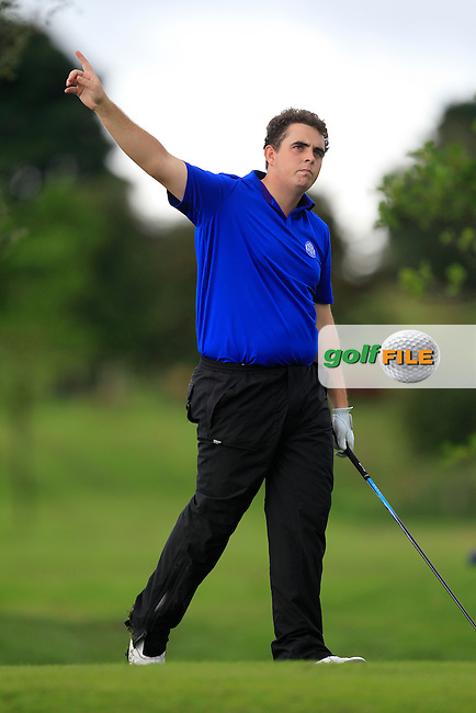 Alan Lowry (Esker Hills/NUIM) on the 8th tee during Day 3 of the Irish Youths Amateur Close Championship at Claremorris Golf Club on Friday 30th August 2013 <br /> Picture:  Thos Caffrey/ www.golffile.ie