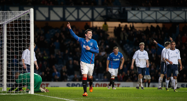 Nicky Clark celebrates his fourth goal