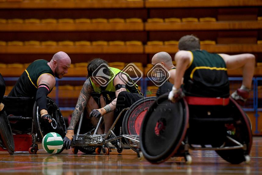 Jayden Warn (AUS)<br /> Australian Steelers WC Training Camp<br /> Australian Wheelchair Rugby Team<br /> Australian Paralympic Committee<br /> Darwin NT / NTIS Stadium<br /> Monday 16 July 2018<br /> © Sport the library / Jeff Crow