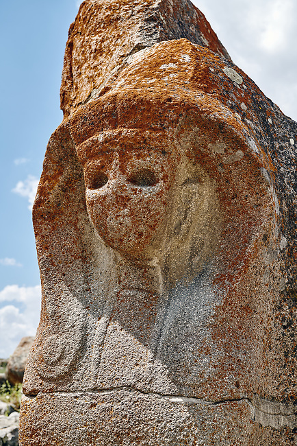 Pictures & Images of the Sphinx gate Hittite sculpture, Alaca Hoyuk (Alacahoyuk) Hittite archaeological site  Alaca, Çorum Province, Turkey, Also known as Alacahüyük, Aladja-Hoyuk, Euyuk, or Evuk