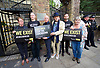Peter Tatchell <br /> Lord Michael Cashman <br /> Sir Ian McKellen <br /> <br /> <br /> Amnesty International UK<br /> CHECHNYA: STOP ABDUCTING AND KILLING GAY MEN<br /> protest at the Russian Embassy, London, Great Britain <br /> 2nd June 2017 <br /> <br /> Over a hundred men suspected of being gay have been abducted, tortured and some even killed in the southern Russian republic of Chechnya.<br /> <br /> The Chechen government won&rsquo;t admit that gay men even exist in Chechnya, let alone that they ordered what the police call 'preventive mopping up' of people they deem undesirable. We urgently need your help to call out the Chechen government on the persecution of people who are, as they put it, of 'non-traditional orientation', and urge immediate action to ensure their safety.<br /> <br /> Photograph by Elliott Franks <br /> Image licensed to Elliott Franks Photography Services