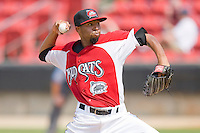 Starting pitcher Daryl Thompson #23 of the Carolina Mudcats in action against the Jacksonville Suns at Five County Stadium May 16, 2010, in Zebulon, North Carolina.  Photo by Brian Westerholt /  Seam Images