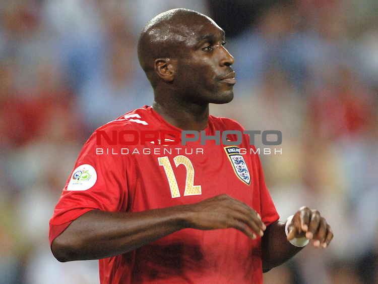 FIFA WM 2006 -  Gruppe B Vorrunde ( Group B )<br /> Play    #35 (20-Jun) - Schweden vs England <br /> <br /> Sol Campbell (ENG)<br /> <br /> Foto &copy; nordphoto
