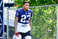 July 28, 2017: New England Patriots safety Patrick Chung (23) walks to the practice fields for the New England Patriots training camp held at Gillette Stadium, in Foxborough, Massachusetts. Eric Canha/CSM
