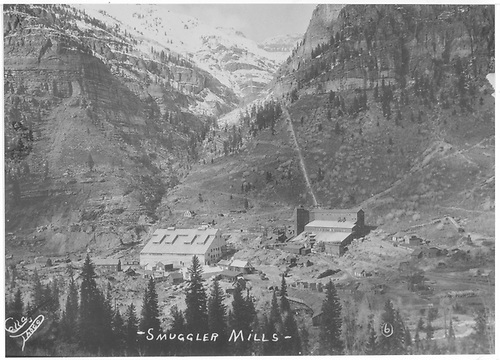The Smuggler-Union Mining Co. Ball Mill and Red Mill at Pandora.<br /> RGS  Pandora, CO