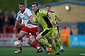 Kevin McDonald of Sheffield United escapes from Joel Byrom of Stevenage. - Stevenage v Sheffield United - npower League 1 Play-off semi-final 1st leg - Lamex Stadium, Stevenage  - 11th May, 2012. © Kevin Coleman 2012