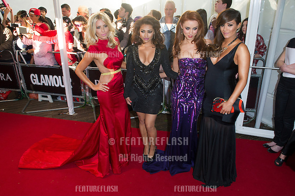 The Saturdays arriving for the 013 Glamour Awards, Berkeley Square, London. 04/06/2013 Picture by: Alexandra Glen / Featureflash