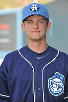 Bruce Kern #6 of the Asheville Tourists poses during media day at McCormick Field on April 4, 2011 in Asheville, North Carolina.  Photo by Tony Farlow / Four Seam Images..