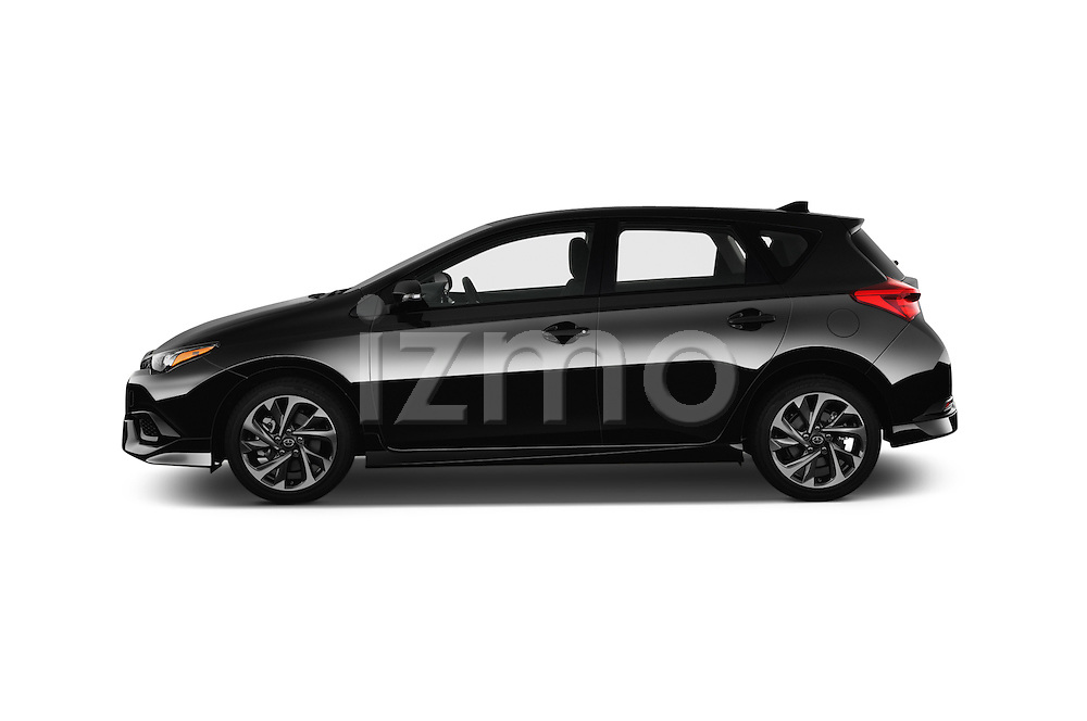 Car Driver side profile view of a 2016 Scion iM 5 Door Hatchback Side View