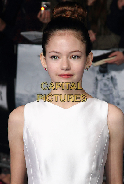 LONDON, ENGLAND - OCTOBER 29: Mackenzie Foy attends the &quot;Interstellar&quot; European film premiere, Odeon Leicester Square, on Wednesday October 29, 2014 in London, England, UK. <br /> CAP/ROS<br /> &copy;Steve Ross/Capital Pictures