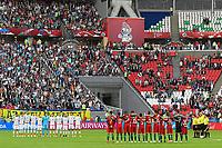 KAZAN, RUSSIA, 18.06.2017 - PORTUGAL-MÉXICO - Jogadores de Portugal (D) e México em partida válida pela 1°rodada da Copa das Confederações 2017, neste domingo (18), realizada na Arena Kazan, em Kazan, Rússia. (Foto: Etzel Espinosa/Brazil Photo Press)