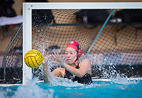 STANFORD, CA - March 23, 2019: Thea Walsh at Avery Aquatic Center. The #2 Stanford Cardinal took down the #18 Harvard Crimson 20-7.