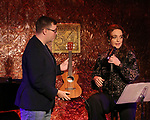"Robbie Rozelle and Melissa Errico during her ""Sings Sondheim"" press preview on October 3, 2018 at Feinstein's/54 Below in New York City."