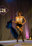 Sept 30 2014- Las Vegas Nevada G2E Gaming  convention Infiniti Creative produces Burlesque Bombshells on the entertainment stage