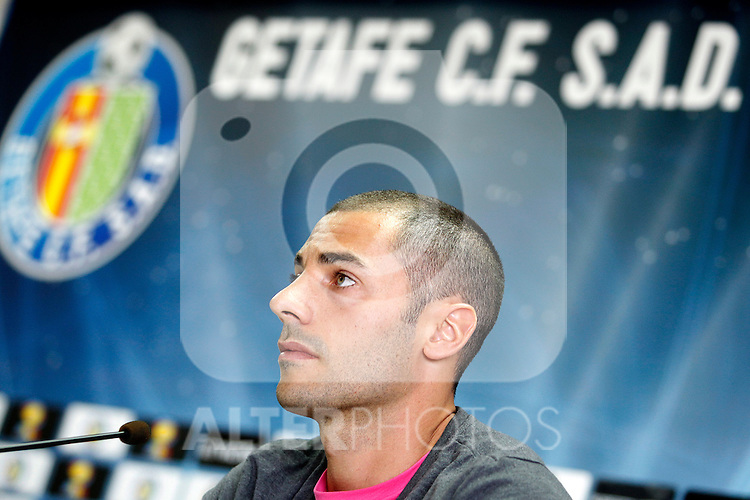 Getafe's new player Mehdi Lacen during his official presentation. July 6, 2011. (ALTERPHOTOS/Acero)