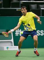 10-02-14, Netherlands,Rotterdam,Ahoy, ABNAMROWTT,, ,  Ivan Dodig(CRO)<br /> Photo:Tennisimages/Henk Koster