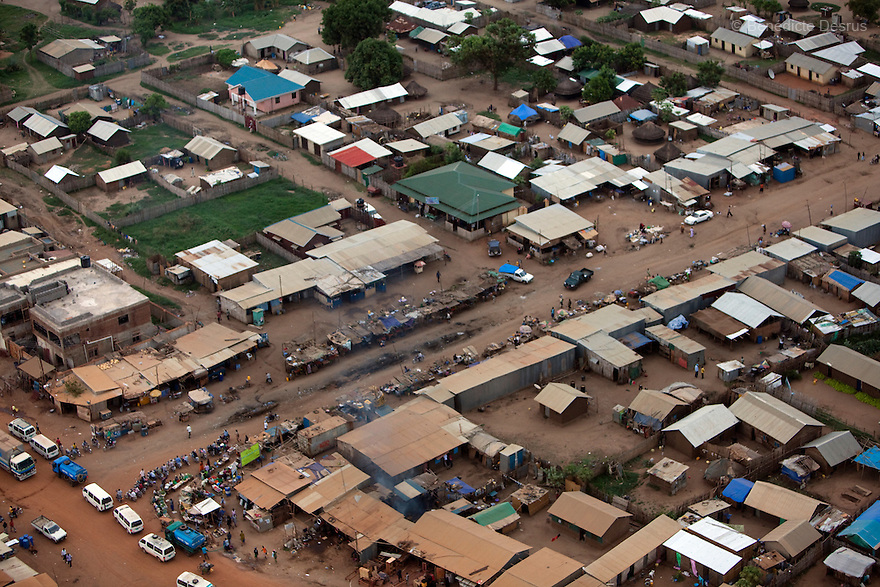 28 may 2010 - Western Equatoria, South Sudan - Aerial view of Juba, South Sudan. Photo credit: Benedicte Desrus