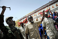 Mogadishu/Somalia 2012 - The Mayor of Mogadishu together with the President, Sheikh Sharif (left)..