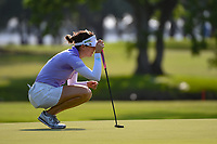 Sandra Gal (DEU) lines up her putt on 1 during round 1 of the 2019 US Women's Open, Charleston Country Club, Charleston, South Carolina,  USA. 5/30/2019.<br /> Picture: Golffile | Ken Murray<br /> <br /> All photo usage must carry mandatory copyright credit (© Golffile | Ken Murray)