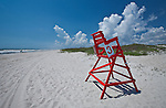 Life Guard Chair on the beach in North Florida