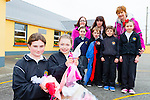 Sophie Bulbeck and Ava O'Sullivan, the children and the parents association of Anablath NS, Kilcummin are appealing for people to donate any old clothes to the school on Friday 17th April back front l-r: Kerri lenihan, Gearoid Lenihan, Gavin Cronin, Lorna O'Sullivan. Back Liz lenihan, Catriona Adair and Geraldine Fleming