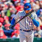 5 April 2018: New York Mets infielder Asdrubal Cabrera in action against the Washington Nationals during the Nationals' Home Opener at Nationals Park in Washington, DC. The Mets defeated the Nationals 8-2 in the first game of their 3-game series. Mandatory Credit: Ed Wolfstein Photo *** RAW (NEF) Image File Available ***