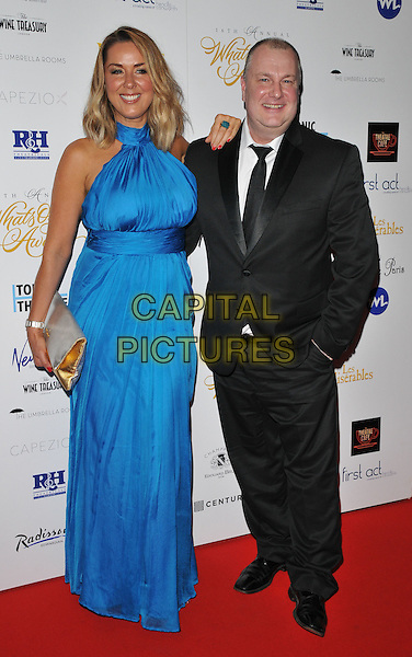 Claire Sweeney &amp; Derek Taylor attend the Whatsonstage.com Awards Concert 2016, Prince of Wales Theatre, Coventry Street, London, UK, on Sunday 21 February 2016.<br /> CAP/CAN<br /> &copy;CAN/Capital Pictures