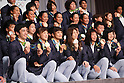 Japan Delegation (JPN), <br /> AUGUST 24, 2016 : <br /> Japan Delegation attend a press conference after arriving in Tokyo, Japan.<br /> Japan won 12 gold medals, 8 silver medals, and 21 bronze medals during the Rio 2016 Olympic Games.<br /> (Photo by Sho Tamura/AFLO SPORT)