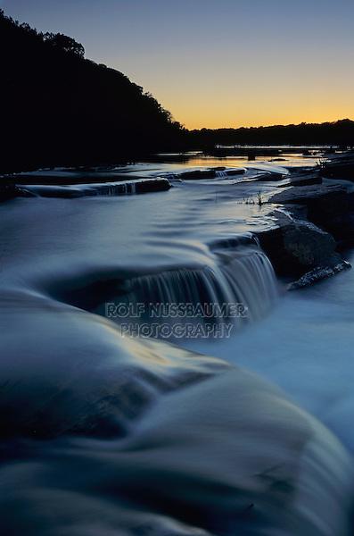 Sunset over Pedernales River, Pedernales Falls State Park,Texas, USA