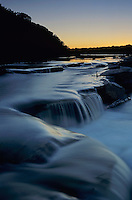 Sunset over Pedernales River, Pedernales Falls State Park,Texas, USA