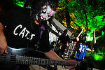 Kaohsiung, Taiwan -- Local band DSR ('Dirty Southern Rituals') performing live at the Brickyard Beer Garden on Halloween.