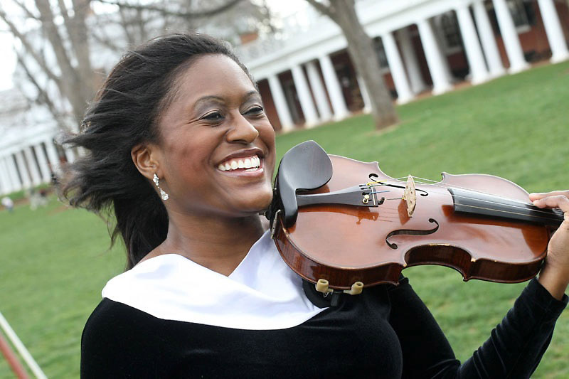 Melanie Hill smiles when thinking about her new album and bright future as a violinist.